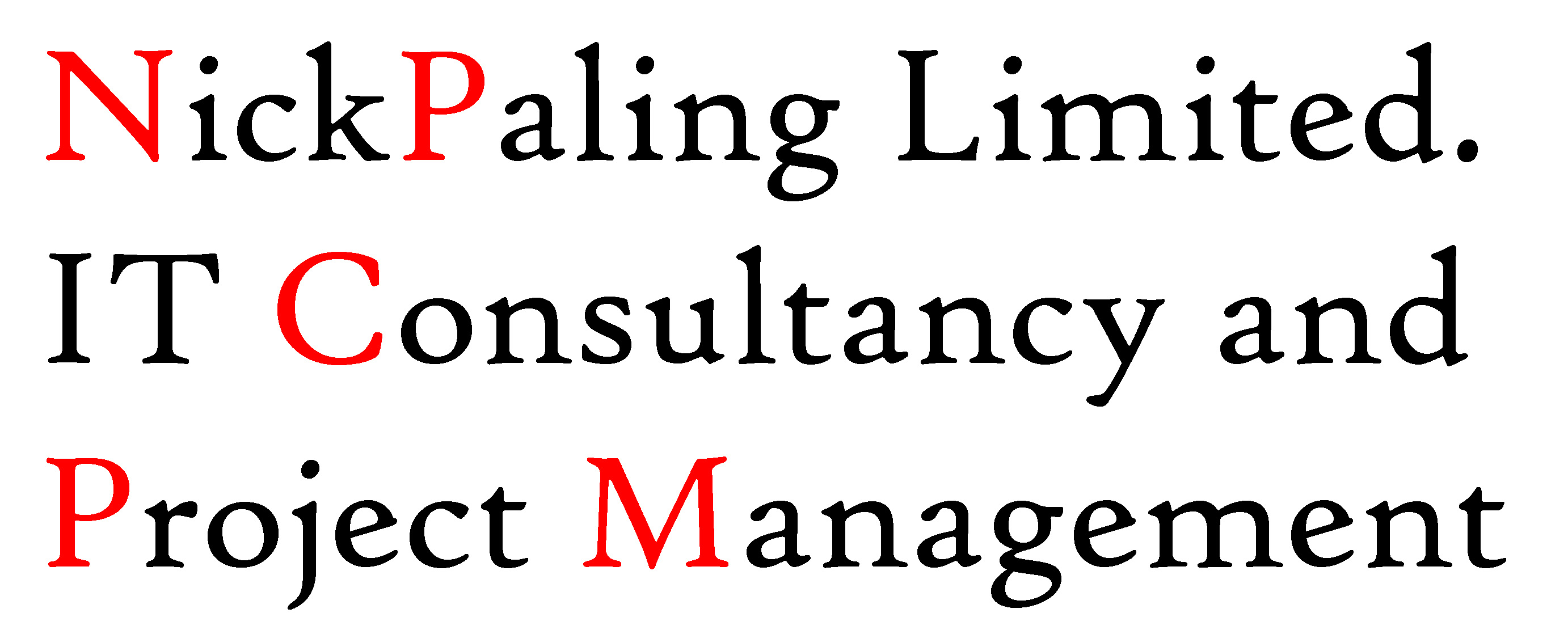 NickPaling Ltd, IT Consultancy and Project Management